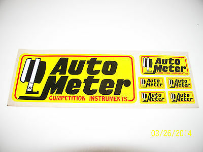 "VINTAGE  70s ORIGINAL  RACING DECALS /STICKER  "" AUTO  METER ""  6"" X  2.25""  # 1"