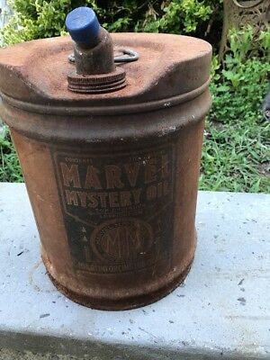 Vintage  5 gallon marvel mystery oil can As Is