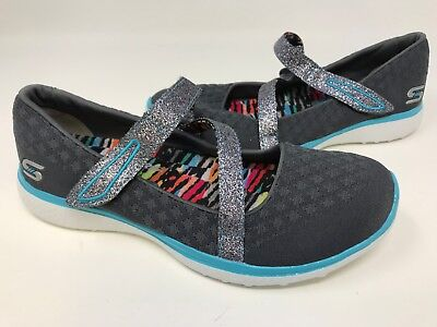 87483617f12e Skechers Youth Girl s MICROBURST ONE UP Shoes Charcoal Blue  86914L 172F az