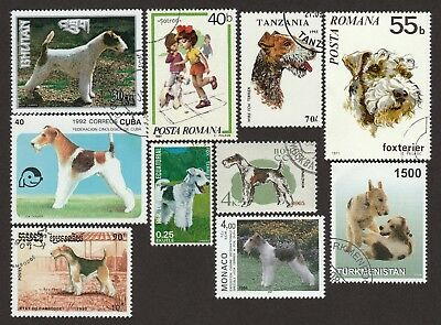 FOX TERRIER ** Int'l Dog Stamp Collection ** Great Gift Idea*