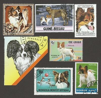 PAPILLON ** Int'l Dog Stamp Collection ** Great Gift Idea*