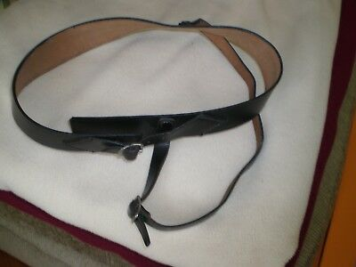 LEATHER HAT BAND & CHIN STRAP for STATE TROOPER STYLE HAT SIZE 7 1/8
