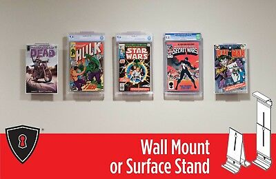 """Comic Book Frame Display - """"Two in One"""" Adjustable Wall Mount or Shelf Stand"""