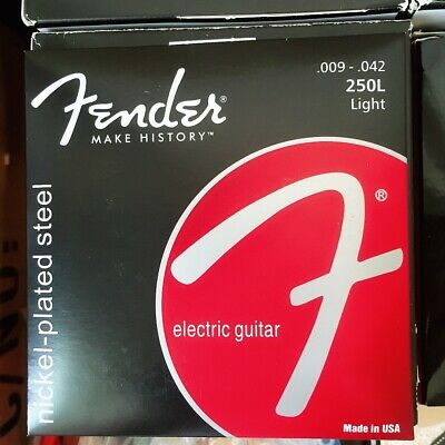 Electric Guitar Strings 9-42 Set Light Fender 250L Strings Nickel-Plated Steel