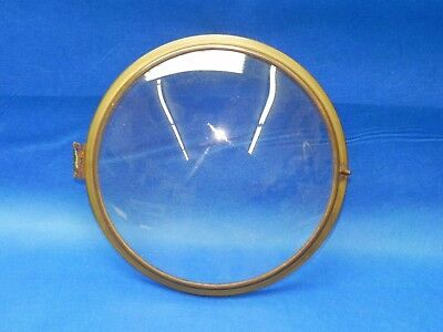 "Antique / Vintage Clock Brass Bezel with Embossed Glass 9-1/8"" Diameter"