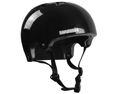 Harsh HX1 Helmet Black Gloss Scooter Certified Helmets and Protection Gear