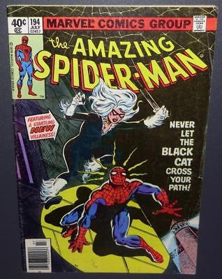 The Amazing Spider-Man #194 1979 6.0 FN 1st app Black Cat -Movie! Skyrocket $