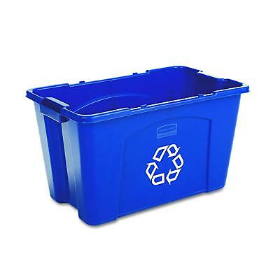 Rubbermaid Commercial Stackable Recycling Bin, 18 Gallon, Blue FG571873BLUE