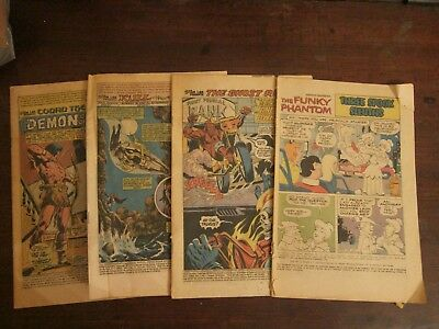 Lot of four coverless Bronze Age comics: Kull, Conan, Ghost Rider, Funky Phantom