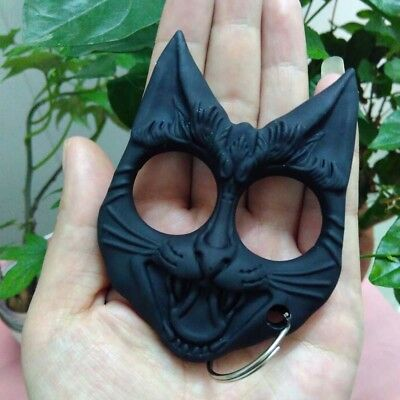 keychain Hard Plastic Cat-Head-Self-Defense Tools Portable Key Chain Travel Safe