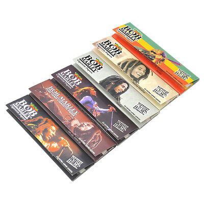 5 PCS BOB MARLEY King Size Rolling Paper 110mm Pure Hemp Cigarette Smoking Paper