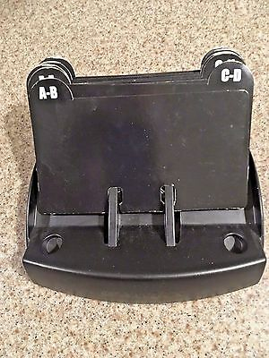 Rolodex Petite Open Tray Card File Black 67060 + Dividers (Capacity 125 Cards)
