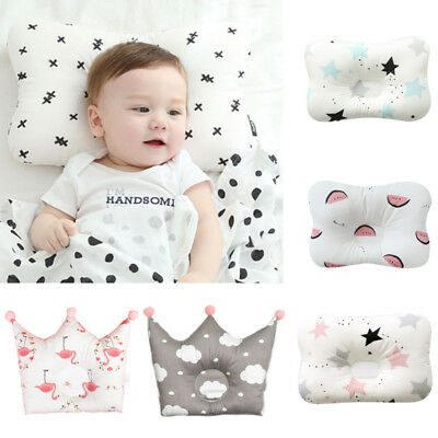 Infant Baby Soft Cotton Pillow Newborn Prevent Flat Head Cushion Sleep Support