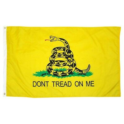 Dont Tread On Me Flag 3x5 Ft - Yellow Tea Party Rattlesnake Gadsden -Don't Tread