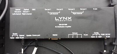 Lynx 4K Distribution Amplifier & Media Player see pictures includes 4 switches