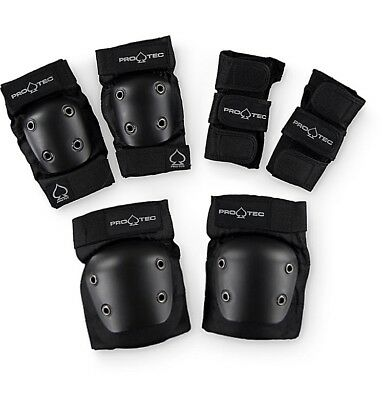 Multi Sport Pro Tec Pads Set Street Gear 3 Pack Junior Youth