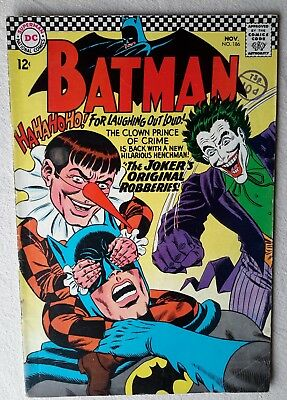 Dc comic. 'Batman '  #186. 1966. Very Good + / 5.0.