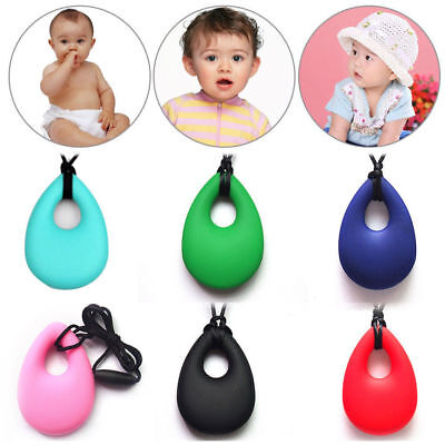 Nursing Pendant Baby Teether Chain Silicone Soother Teething Necklace Chew Toy
