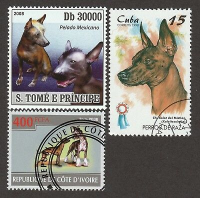XOLOITZCUINTLI ** Int'l Dog Stamp ** Great Gift Idea*