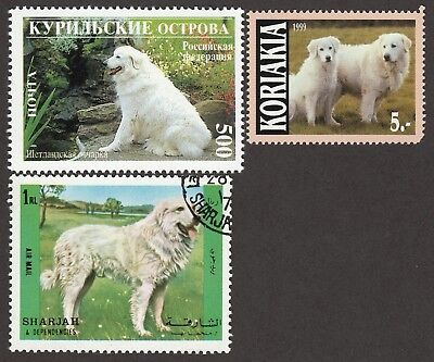 GREAT PYRENEES ** Int'l Dog Postage Stamp Collection ** Unique Gift **