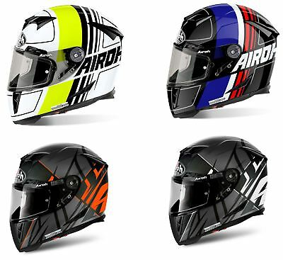 Bikeit Motorcycle Motorbike Airoh GP500 Full Face Helmet ACU Gold Approved