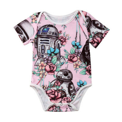 Canis Toddler Baby Girls Star Wars Romper Bodysuit Jumpsuit Outfits Set Clothes