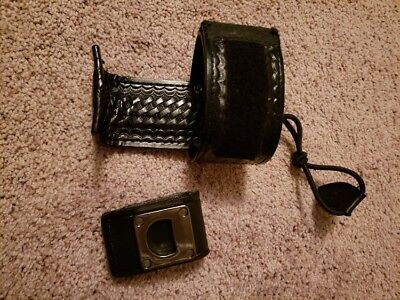 Basketweave Leather Universal Radio Holder