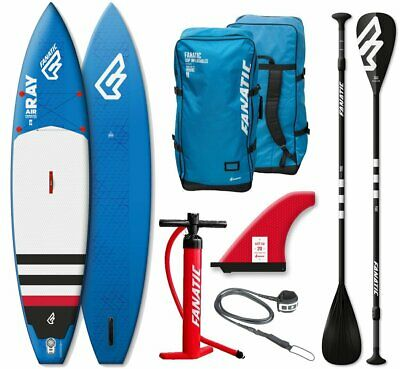 Fanatic RAY Touring AIR inflatable 12.6 SUP Stand up Paddle Board Komplett Set