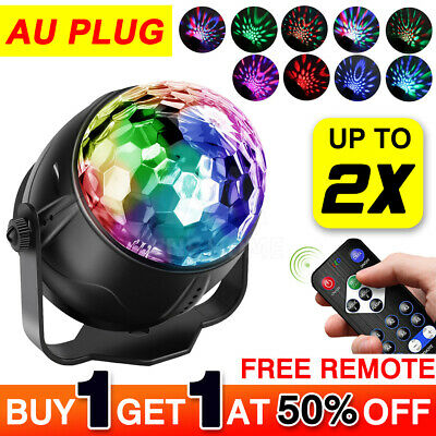 LED Disco Ball DJ Party Light Effect Remote Sound Activated Strobe Gift
