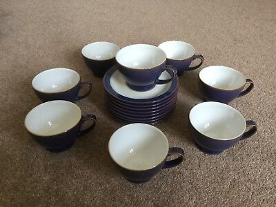 Denby Storm Tea Cups & Saucers all in First Class Condition