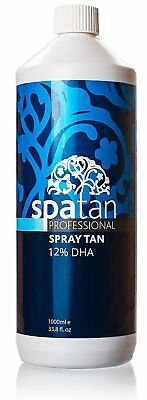 Spray Tan Solution - 1 Litre Spatan Spray Fake Tanning Solution For Airushes