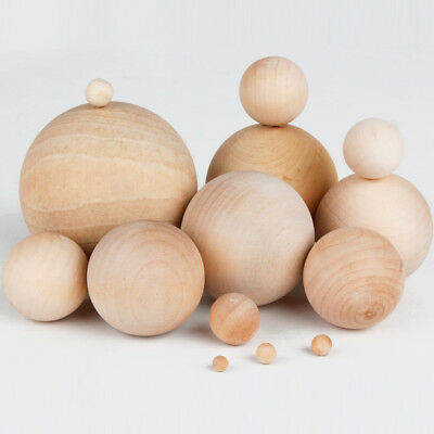 Natural Wooden Craft Wood Balls Sphere Round Craft Supplies 6mm to 60mm Diameter