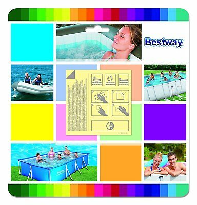 10pc SELF ADHESIVE SWIMMING POOL PUNCTURE REPAIR PATCH KIT AIR BEDS INFLATABLES