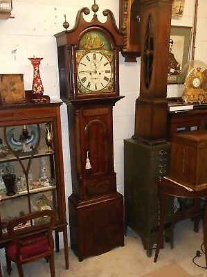 VICTORIAN MAHOGANY LONGCASE IN ORIGINAL WORKING ORDER AND CONDITION c 1880 +
