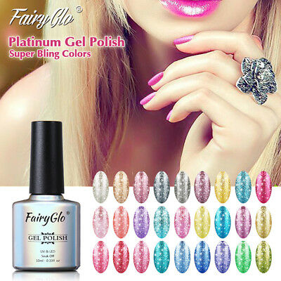 FairyGlo 5 Colors Set Platinum Gel Nail Polish Soak Off UV LED Varnish Nail 10ml