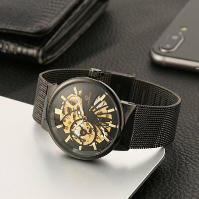 Forsining Steel Mesh Strap Automatic Mechanical Business Watches for Men *8