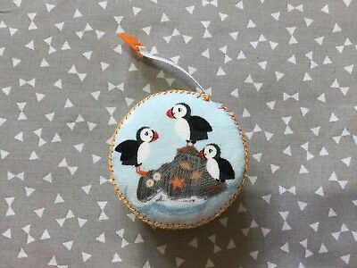 Puffin Retractable Tape Measure Sewing Knitting Teachers Present