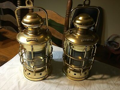 (2) VINTAGE STYLE MASTHEAD WALL MOUNT or HANGING LANTERN SHIP NAUTICAL DECOR