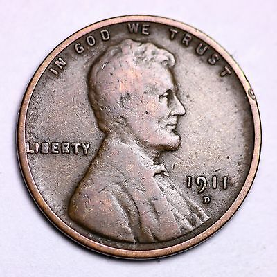 1911-D Lincoln Wheat Cent Penny LOWEST PRICES ON THE BAY! NICE!  FREE SHIPPING!