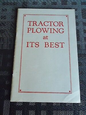 IHC(International Harvester Company) Tractor Plowing at its best. Soft cover boo