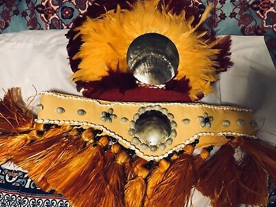 Tahitian Feathered Headpiece & Hip Hei (also sold separately)