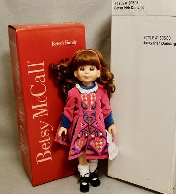 "BETSY McCALL IRISH DANCING 14"" 2000 TONNER DOLL #20503 - MINT"
