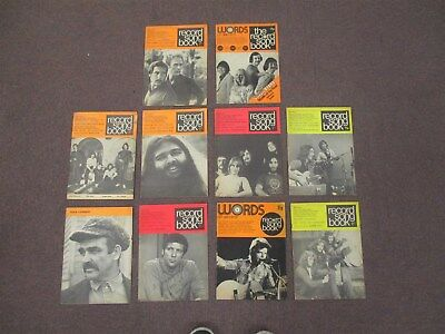 10 x Vintage Record Song Book Magazines