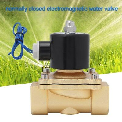 1inch DC 12V Electric Solenoid Valve Air Water Gas Brass N/C Normal Closed -UK