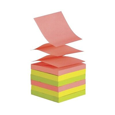 School Smart Pop-Up Self-Stick Adhesive Note 3 X 3 in Assorted Neon Colors 12 PK