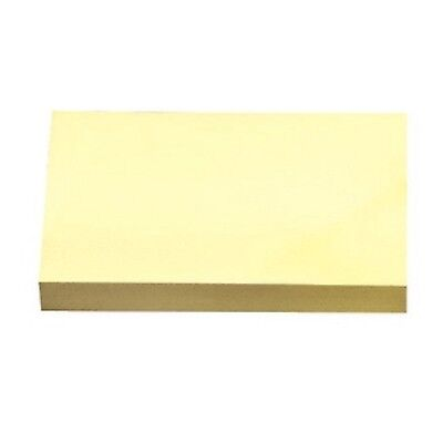 School Smart Removable Self-Stick Note 3 X 5 in Yellow 100 Sheet Pads Pack of 12