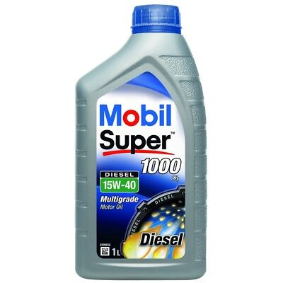 4 x Mobil Super 1000 XI 15W-40 Mineral 1 Litre Car Engine Oil Lubricant 151181