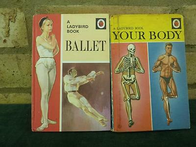2 Vintage Ladybird book Your Body and Ballet both in excellent condition