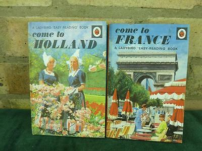 2 Vintage Ladybird book series 606G Come to France ,Come to Holland in great con