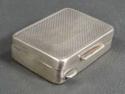Antique Italian Sterling Silver Pocket Travel Tobacco Snuff Pill Box Hinged Case